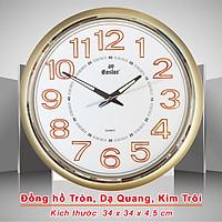 Đồng hồ Eastar Tròn Cổ điển có Dạ quang (*) - Kim trôi Êm ái, không gây tiếng động