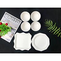 Bộ bát đĩa 6P - Kết hợp Rire series & Bella - Erato - Hàng nhập khẩu Hàn Quốc