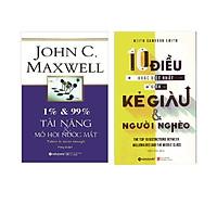 Combo Bí Mật Của Thành Công ( 10 Điều Khác Biệt Nhất Giữa Kẻ Giàu Và Người Nghèo + 1% & 99%: Tài Năng & Mồ Hôi Nước Mắt ) tặng kèm bookmark Sáng Tạo