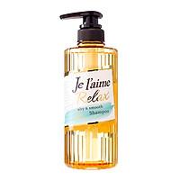 Dầu gội chuyên biệt dành cho tóc thưa mỏng, yếu và dầu Kosé Cosmeport Je l'aime Relax Shampoo Airy & Smooth 500ml