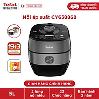Nồi áp suất điện đa năng Tefal Smart Pro IH CY638868 - 5L - Nấu nhanh tiết kiệm thời gian - 19 thực đơn nấu ăn và 3 chế độ đặc biệt - Tối ưu hương vị và dinh dưỡng món ăn - Hàng chính hãng
