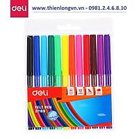 Bút dạ màu nước Deli 37169 - 12 màu