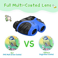 Lightweight Kids Binoculars Outdoor Nature Hiking Camping Play for 8X21 Binoculars Telescope Exploration Accessory Ages 3-12