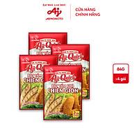Combo 4 gói Bột tẩm khô Aji-Quick 84g