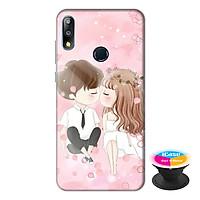 Ốp lưng điện thoại Asus Zenfone Max Pro M2 hình Tình Yêu Đôi Lứa tặng kèm giá đỡ điện thoại iCase xinh xắn - Hàng chính hãng