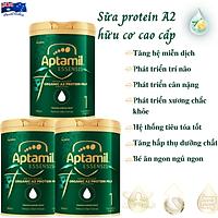 Sữa Cho Trẻ Sơ Sinh Cao Cấp Aptamil Essensis Protein A2 Hữu Cơ Số 1 NK Úc Giàu Dưỡng Chất Vitamin, Khoáng Chất, Omega-3, Men Vi Sinh Giúp Bé Phát Triển Toàn Diện Chiều Cao, Cân Nặng, Trí Não, Hỗ Trợ Tiêu Hóa Tốt, Tăng Chức Năng Hệ Miễn Dịch - 3 Hộp x 900g