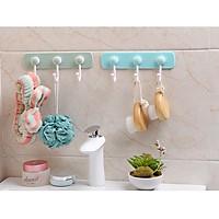 Móc treo đồ nhà tắm thông minh dán tường , thanh treo khăn, quần áo, đồ dùng nhà tắm đa năng siêu tiện dụng - giao màu ngẫu nhiên