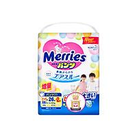 Combo 2 Tã/bỉm quần Merries size XXL - 26 + 2 miếng (Cho bé 15 - 28kg)