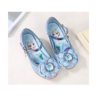 Giày công chúa Elsa cao gói 3 phân mũi tròn