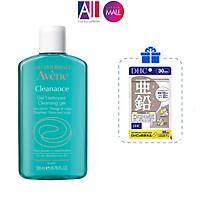Gel rửa mặt cho da nhờn mụn Avene cleanance cleansing gel 200ml TẶNG viên kẽm DHC (Nhập khẩu)