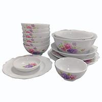 Bát đĩa -  Bộ 14 sản phẩm bát đĩa Ý Xuân -  Bộ bát đĩa -  Sử dụng gia đình