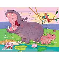 Xếp hình Tia Sáng Hà mã   (30 Mảnh Ghép) - Tặng kèm tranh tô màu cho bé