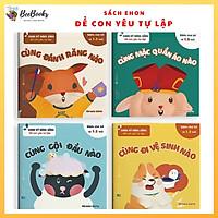 Sách Ehon Nhật Bản- Bộ sách Ehon Kỹ Năng Sống Để Con Yêu Tự Lập dành cho bé từ 1.5 đến 6 tuổi-Ehon nuôi dưỡng tâm hồn bé