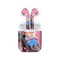 Miếng dán skin chống bẩn cho tai nghe AirPods in hình Heo con dễ thương - HEO2k19 - 156 (bản không dây 1 và 2)