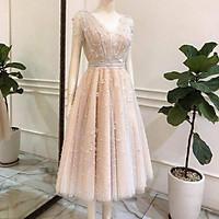 Đầm xoè dự tiệc lưới nhũ kết cườm TRIPBLE T DRESS - size M/L (kèm ảnh/video thật) MS122V