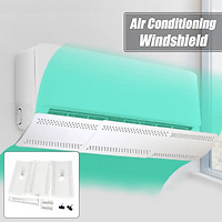White Adjustable Retractable 57-80cm Air Conditioner Wind Shield Cold Wind Gas Deflectors Retractable Baffle Anti Direct Blowing Baffle for Home Office Hotel