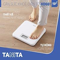 Cân sức khỏe điện tử Tanita HD661 Màu Trắng, Nhật Bản Tanita,chính hãng nhật bản,cân điện tử,cân chính hãng,cân nhật,cân sức khoẻ y tế,cân sức khoẻ gia đình,cân sức khoẻ cao cấp,cân 120kg,cân 130kg,cân 150kg,Cân sức khoẻ mini,cân tanita