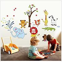 Decal dán tường vườn thú của bé - combo 2 bộ AmyShop