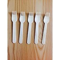 Dĩa (nĩa) gỗ dùng một lần (100 chiếc)