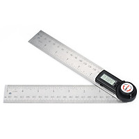 GemRed 2-in-1 Digital Angle Rule Goniometer Angle Gauge Stainless Steel Angle Finder Clinometer Digital Display Angle