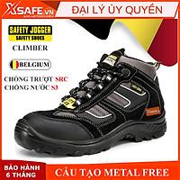 Giày bảo hộ lao động nam Jogger Climber S3 SRC da lộn bền bỉ, thoáng khí, chống nước, cấu tạo phi kim nhẹ hơn -