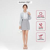 Áo sơ mi nữ thiết kế phối bèo GUMAC AB5121