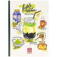 Bộ 5 Vở Kẻ Ngang Có Chấm Cocktail - 120 Trang Không Kể Bìa - ĐL 70 - Mẫu 2 - Bubble Matcha - Xanh Lá