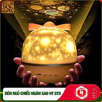 Đèn ngủ chiếu trần 3D có chế độ xoay và 6 set hình chiếu phim HT SYS