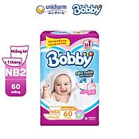 Tã Giấy Newborn 2 Bobby 40 Miếng/ 60 Miếng