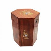Hộp Đựng Chè Khảm Hoa Văn Cao 14cm Hai Wood