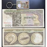 Tiền Cổ Campuchia 500 riels 1972 Tượng Phật May Mắn, Bình An