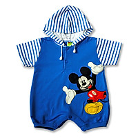 Bodysuit sơ sinh liền nón Chuột ngộ nghĩnh cho bé 0-12 tháng
