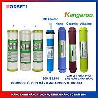 [HÀNG CHÍNH HÃNG] Combo 7 lõi lọc nước Kangaroo (Số 123, RO Dupon, Nano, Ceramic,Alkaline)