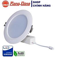 Đèn LED âm trần 9W Rạng Đông, khoét lỗ 90, vỏ nhôm đúc, cánh tản nhiệt