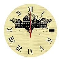 Tranh đồng hồ treo cầu thang giá rẻ DHT-123