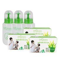 Bộ Rửa Mũi Dr.Green - (Combo Đại Gia Đình 3 Bình + 90 Gói Muối )