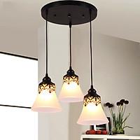 Bộ đèn thả DAKEN treo trần cao cấp kèm bóng LED chuyên dụng và đế ốp trần