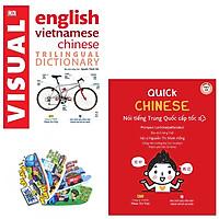 Combo Visual English Vietnamese Chinese Trilingual Dictionary và Quick Chinese – Nói Tiếng Trung Cấp Tốc (Kèm CD) + Tặng Kèm Bộ Bookmark Ti ki 2018