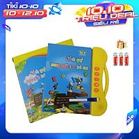 (Bản cao cấp) Sách quý song ngữ cho trẻ em - Sách nói điện tử song ngữ (Anh-Việt) (Kèm theo 3 quả pin sử dụng ngay)