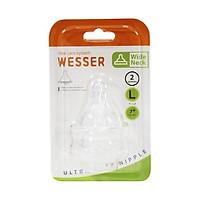 Núm ty silicone Wesser cổ rộng siêu mềm size S/M/L
