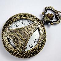 Đồng hồ quả quýt đeo cổ tháp Eiffel Paris