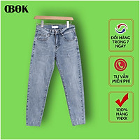 Quần Jean Nam Ống Côn , Quần Bò Nam Đẹp Cao Cấp 2021 OBOK Fashion QJN603