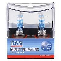 Bộ 2 Bóng Đèn Ô Tô 365-Auto H11 Night Breaker (55W) - Xanh