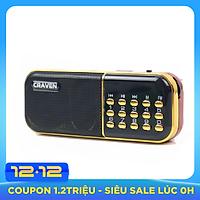Radio mini nghe đài, nghe nhạc thẻ nhớ, USB, nghe kinh phật Craven-25A - Hàng chính hãng