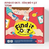 Trò chơi TRUY TÌM ĐỒ VẬT chính hãng TOI - FIND IT OUT - mẫu màu đỏ cho bé 3 tuổi