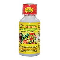 Phân bón lá sinh học VƯỜN SINH THÁI. Giúp rễ khỏe, cành chắc, đọt mạnh, ra hoa đậu trái nhiều. Ức chế sâu, bệnh hại. 1 chai phun 7000m2. Chiết xuất 100% từ Thiên Nhiên. HSD: 4 năm
