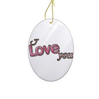 Miếng Sứ Trang Trí In Hình I Love You Valentines - Mẫu010