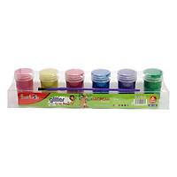Màu Nước Kim Tuyến Glitter SMARTKIDS 6 Màu Kèm Cọ (20g/ Màu)