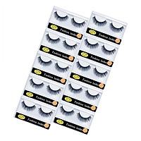 Anself 10 Pairs Fake Eyelashes With False Lashes Applicator Long Thick Curly Lashes Makeup Lashes Strip For Eye Makeup