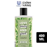 Sữa Tắm Love Beauty And Planet Detox Sạch Sâu Lưu Hương Thanh Mát Với 100% Tinh Dầu Tràm Trà Úc